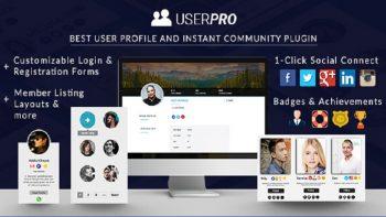 افزونه چندمنظوره پروفایل حرفه ای وردپرس UserPro